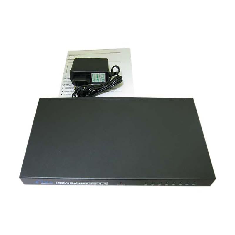 HDMI разветвитель 1x8 с усилителем до 25м v1.4 Espada EDH18 + блок питания