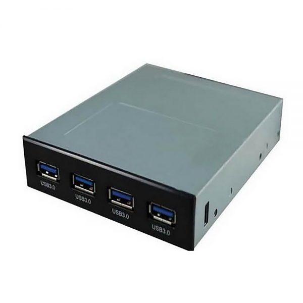 """Хаб USB 3.0 4 порта + питание, в отсек 3,5"""""""