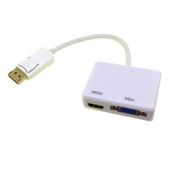 Видеоадаптер Display Port Male to VGA & HDMI модель: EdpVGHI Espada