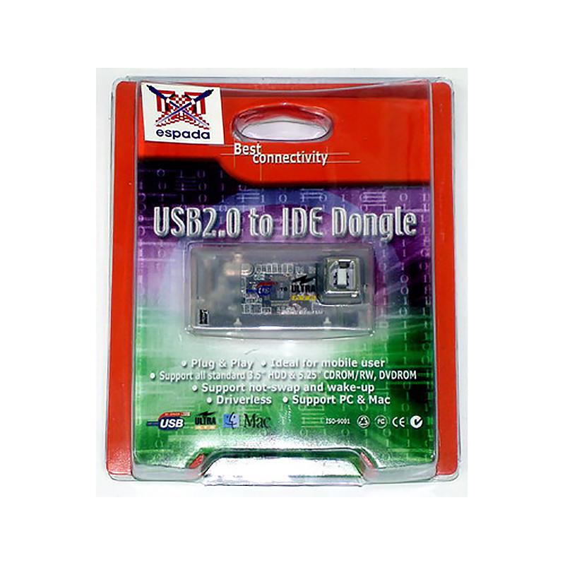 Контроллер USB to IDE, Espada (Переходник с USB на IDE для подключения IDE устройств (HDD, CDROM) через USB порт)