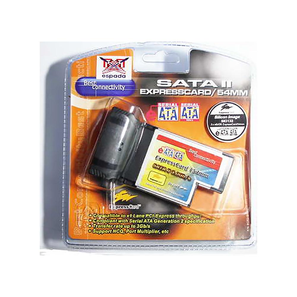 Контроллер Expresscard (54mm) to SATAII 2 port, X3132L-A4, Espada