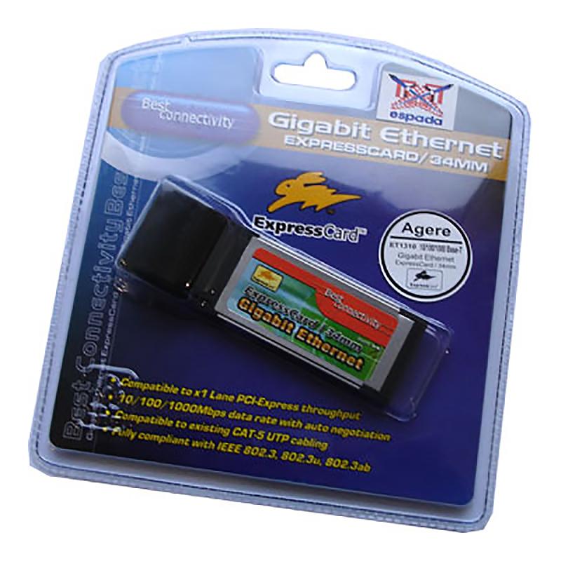 Контроллер Expresscard/34mm, Gigabit Ethernet, FG-X1310-A2, Espada,