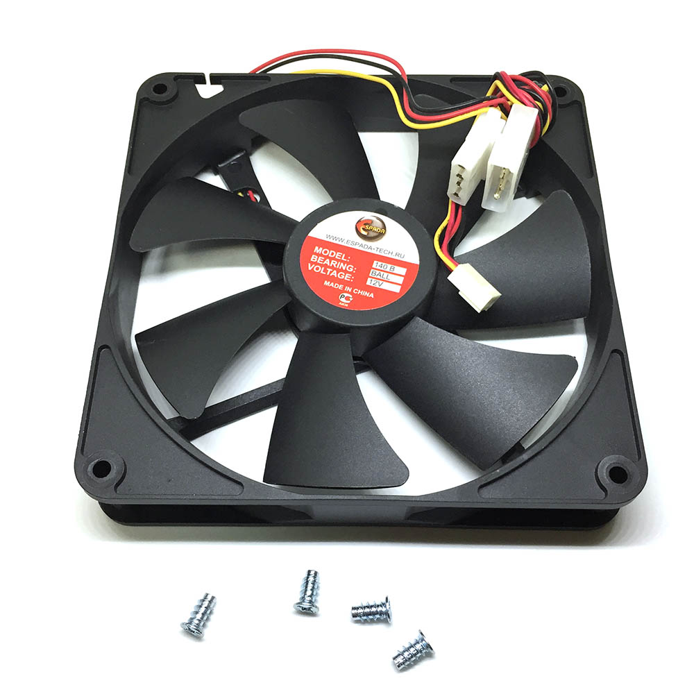 Вентилятор охлаждения 140B, 140mm DC Fan, 3pin + 4pin