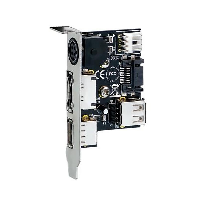 Адаптер (переходник) для подключения внешних e-SATA + USB устройств с монтажной планкой