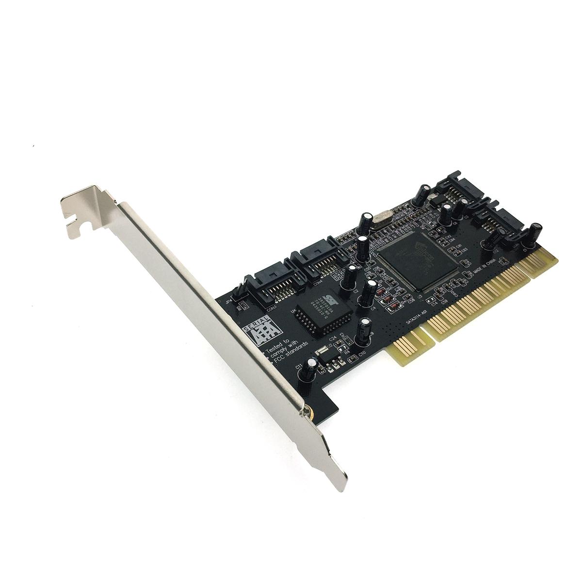 Контроллер PCI to 4 port SATA ,RAID /0, 1, 0+1/, чип Silicon Image Si3114, FG-SA3114-4IR-01-CT01, Espada