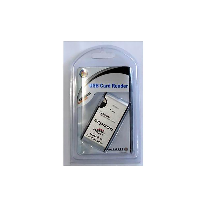 Картридер 23в1 602M USB 2.0 Espada, aluminum