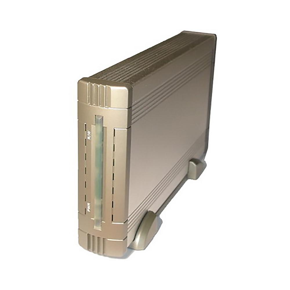 """Внешний корпус Espada for 3,5"""" HDD SATA (USB2.0) алюминиевый, встроенный вентилятор & крепление дисков без винтов, подключение USB 2.0"""
