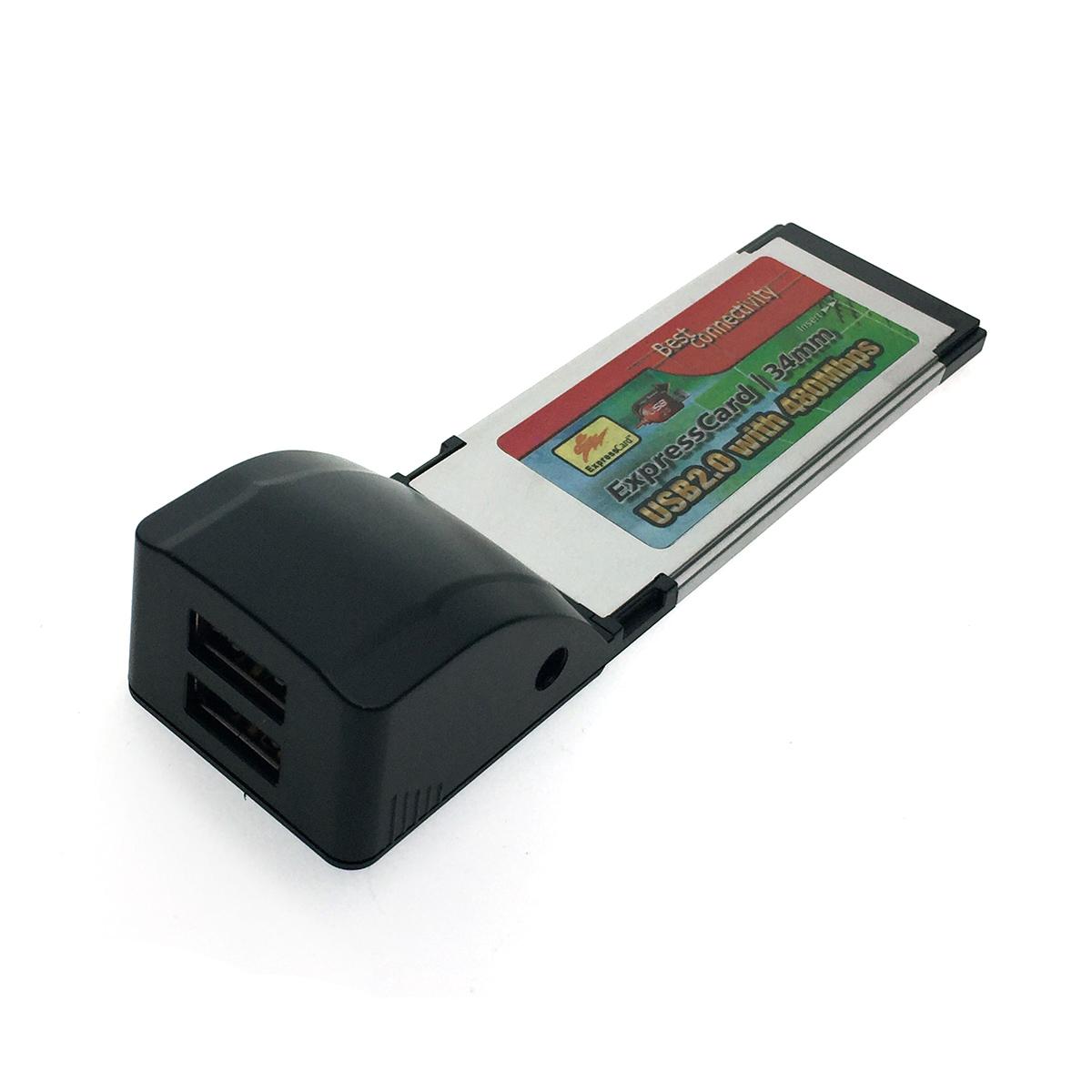 Адаптер Expresscard/34mm to USB 2.0 2 port XN114-2-B1 Espada box