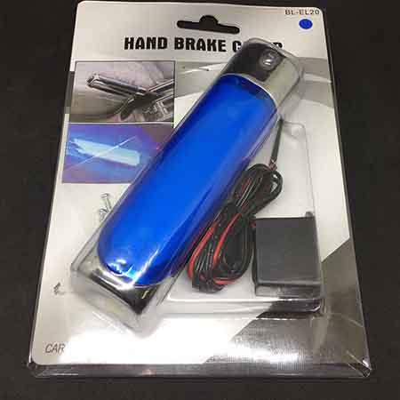 Ручка на рычаг стояночного тормоза автомобиля универсальная с подсветкой HAND BRAKE COVER BL-EL20 blue