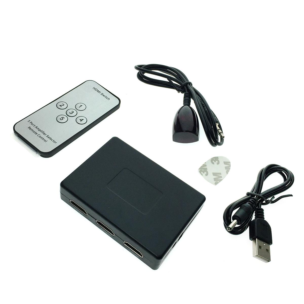 HDMI переключатель HDMI 5x1, Espada HSW0501S с пультом