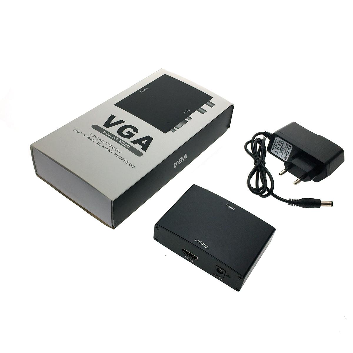 Конвертер VGA + R/L Audio to HDMI, Espada, HCV0101 с блоком питания