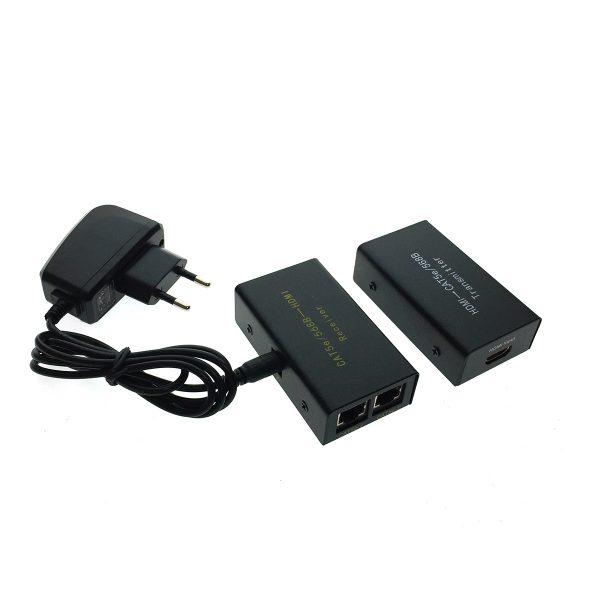 Удлинитель HDMI по витой паре, Espada HCL0101 30 метров с блоком питания