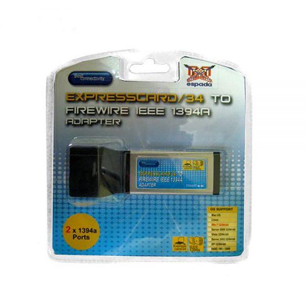Контроллер ExpressCard/34mm, 1394A, 2 port, XFWA-AB1-0002A-1-CT21