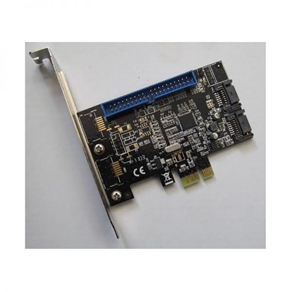 Контроллер PCI-E x1 to 2 port SATA3 (6Gb/s) + 1 port IDE, RAID (0, 1, JBOD), чип Marvell 88SE9128 FG-EST04A-1-CT01