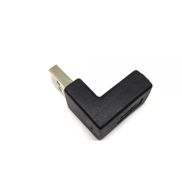 Переходник USB 2.0 type A male to USB 2.0 type A female, поворот 90° Espada EUSBAmf90