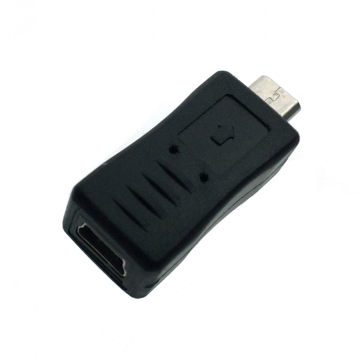 Переходник micro USB type B male to mini USB type B female, EUSB2mnBF-mcBM Espada