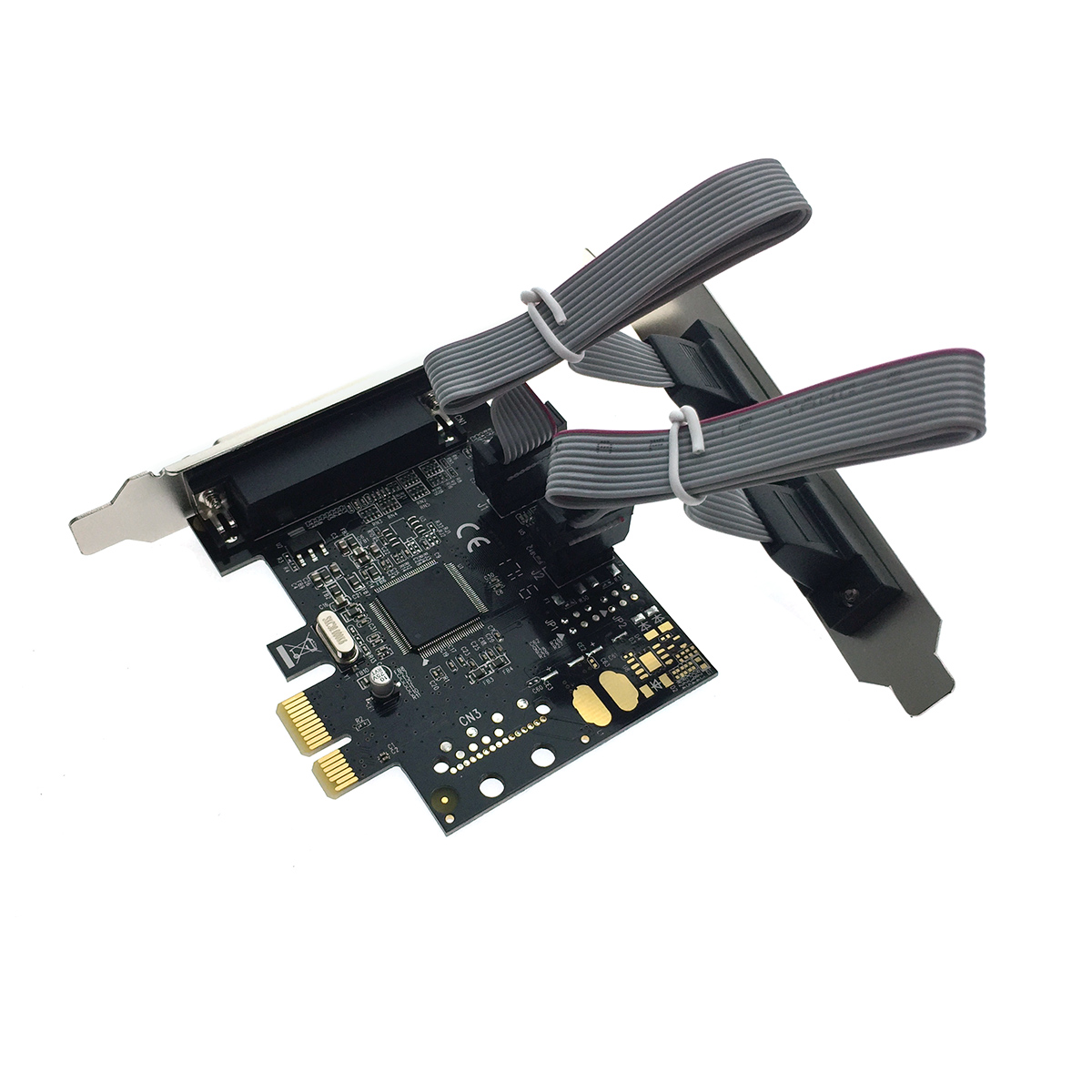 Контроллер PCI-E to 2 RS232 + 1 Printer порт /2 COM + 1 LPT port/, chip MCS9901CV, FG-EMT03A-1-BU01, Espada, oem