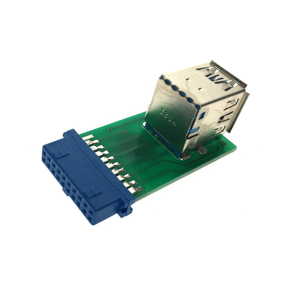 Переходник 20PIN (19pin) на 2 порта USB 3.0 EIDC20P-USB3x2s