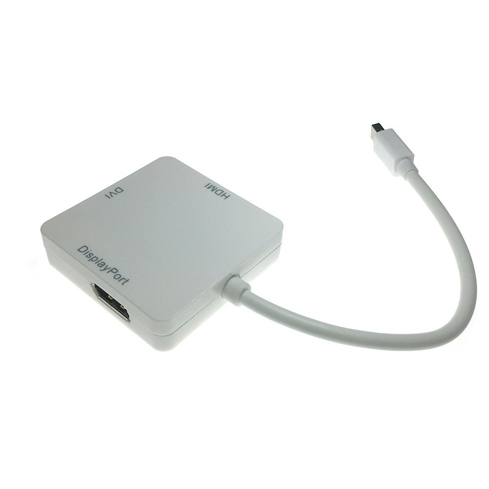 Конвертер Mini Display Port Male to DVI, HDMI и DisplayPort Female 20 cm Espada EMDPM-3in1DPF20