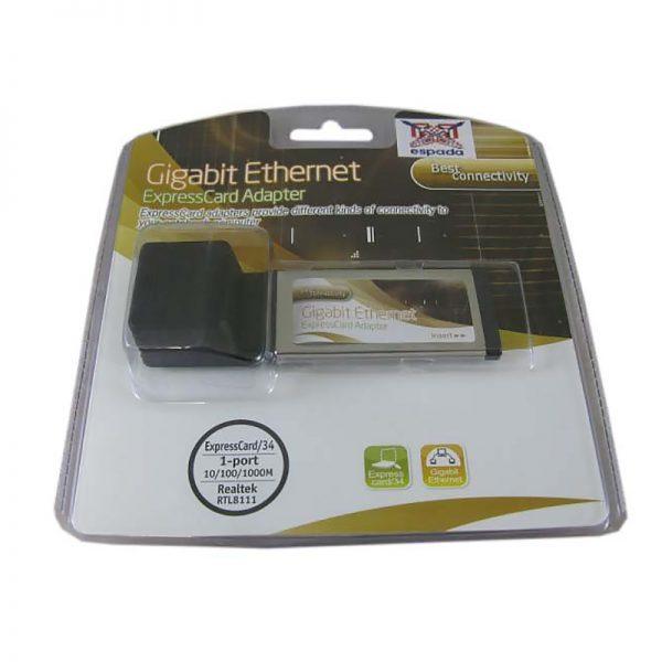 Контроллер ExpressCard, Gigabit Ethernet FG-XNW02A-1BB