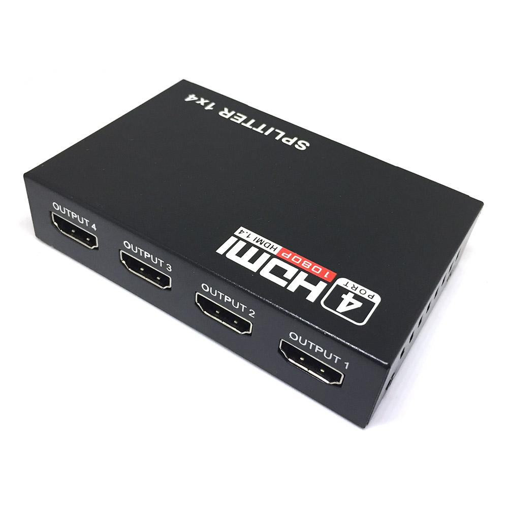 HDMI разветвитель 1x4 с усилителем до 30м Espada EDH12 v1.4 4K@30hz