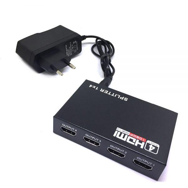 HDMI разветвитель 1x4 с усилителем до 30м  v1.4 поддержка 3D Espada EDH12