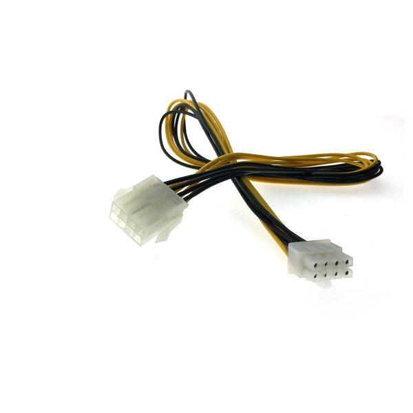 Удлинитель питания для материнской платы 8 pin EPS 12V male to female 50см Espada E8pinEXTCabMb50