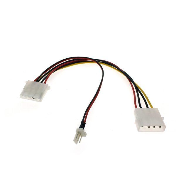 Переходник питания для вентилятора 4pin на 3pin+4pin Espada модель: E4pinM-3+4pin