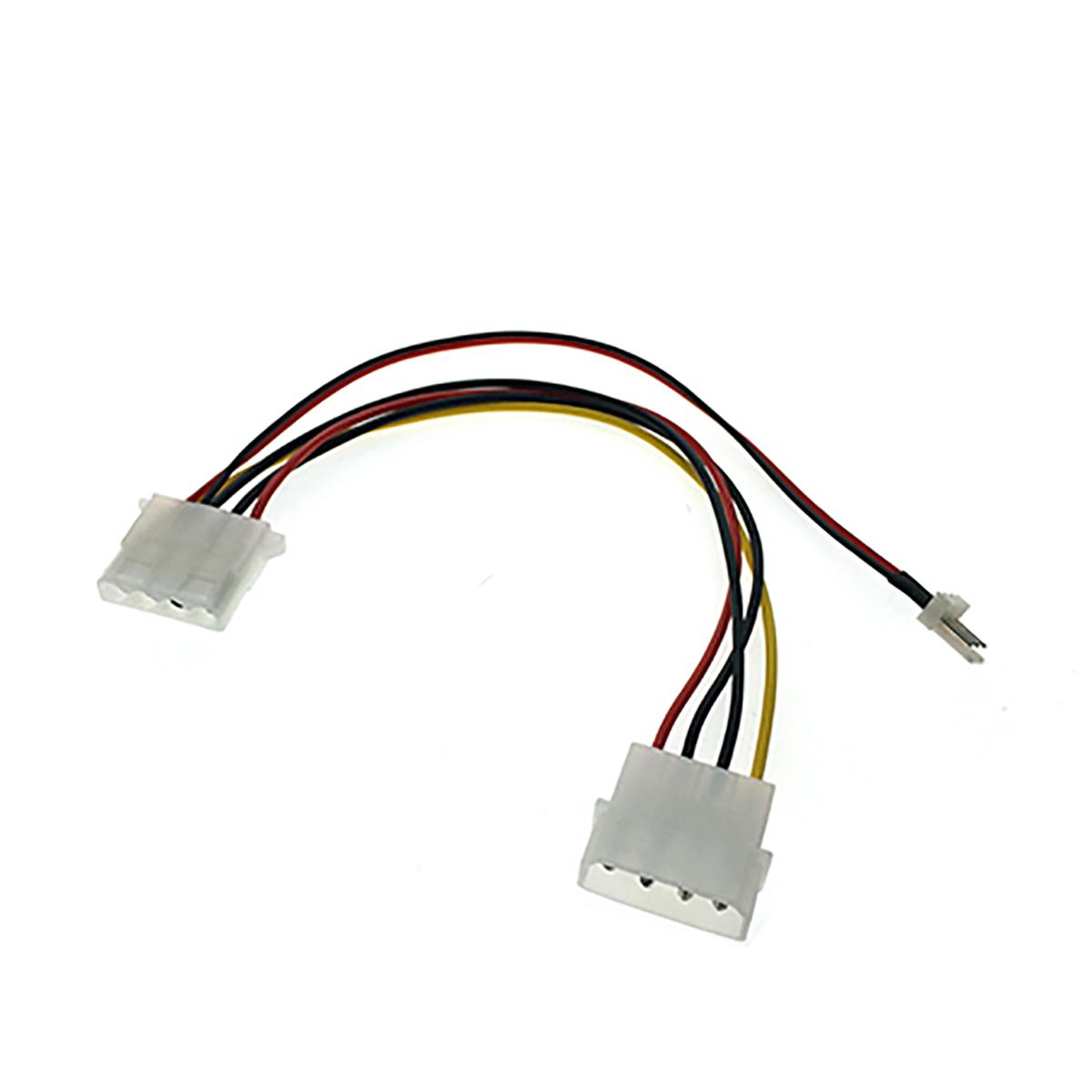 Переходник питания для вентилятора 4pin на 3pin+4pin, Espada E4pinM-3+4pin