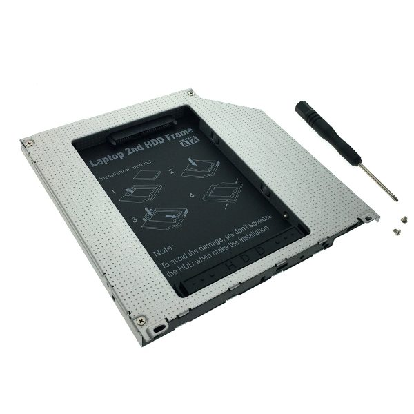 "38663 Адаптер оптибей Espada SS95U SATA/miniSATA/SlimSATA 9,5мм для подключения HDD/SSD 2,5"" к ноутбуку вместо DVD"