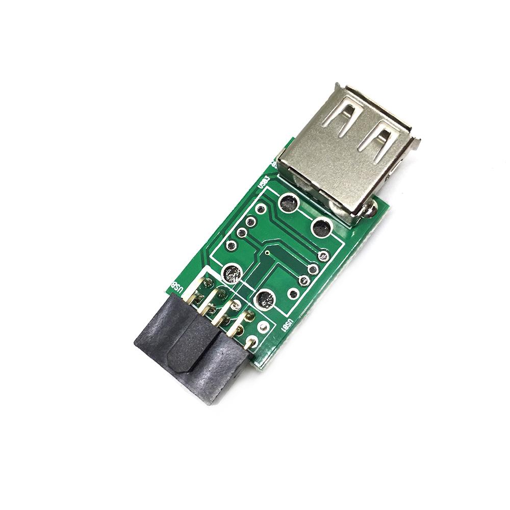 Переходник с внутреннего разъема материнской платы 10PIN / 9pin to USB 2.0, EIDC10PF-USB2x1