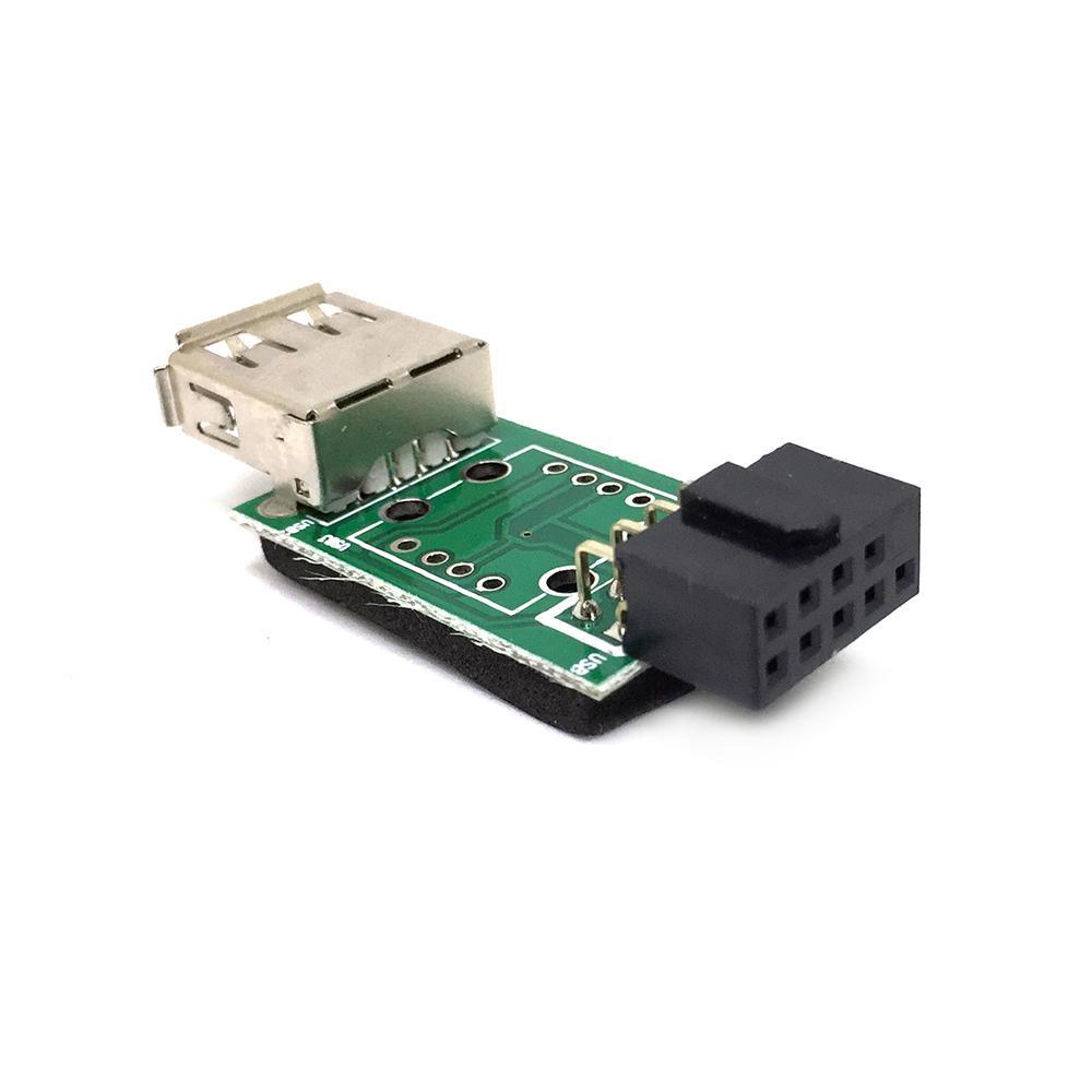 Переходник с внутреннего разъема материнской платы 10PIN / 9pin to USB 2.0, EIDC10PF-USB2x1 Espada