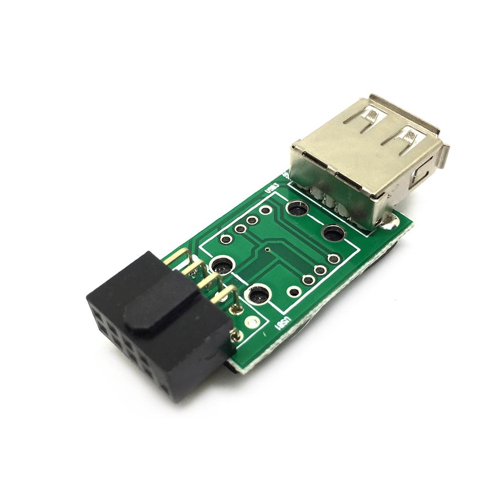 Переходник с внутреннего разъема материнской платы 10PIN / 9pin to USB 2.0, модель: EIDC10PF-USB2x1
