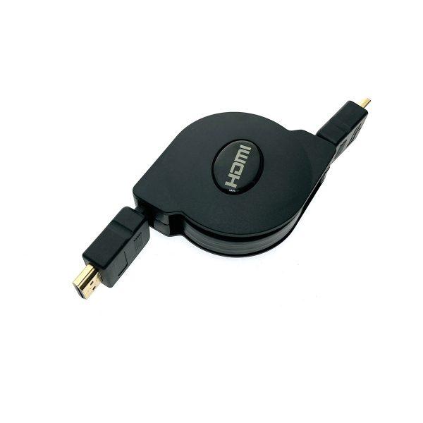 Кабель HDMI Male to HDMI Male 1 метр ver1.4 плоский с регулировкой длины HDMIm-HDMIm1p