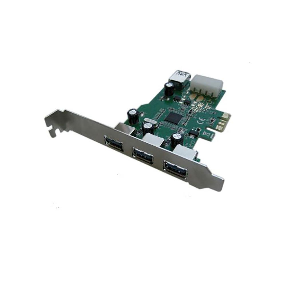 Контроллер PCI-E x1 USB3.0 3ext+1int port EU308A-1 Espada box