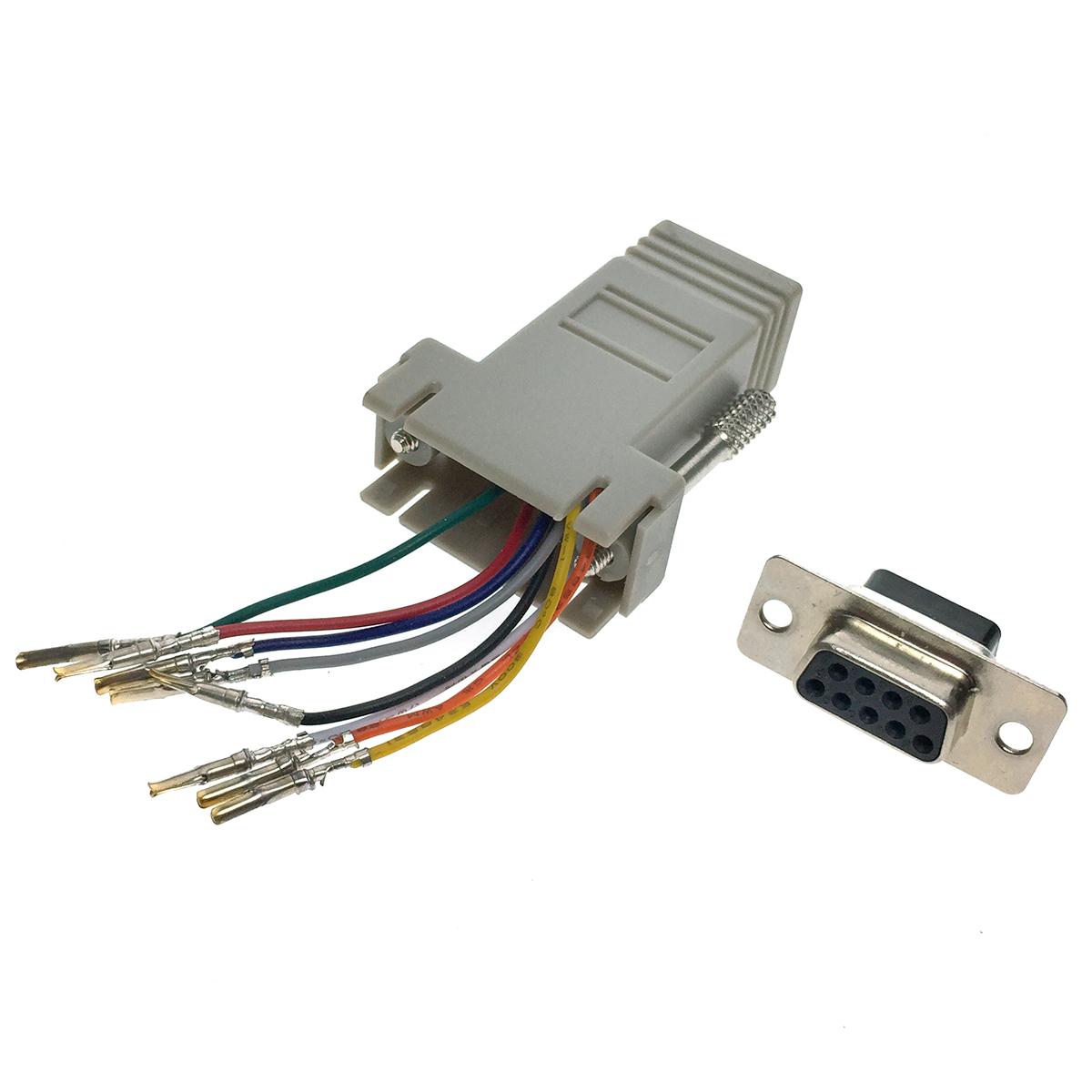 Переходник последовательного порта RS-232/COM/ to RJ45 Espada ECOMDB9F-RJ45