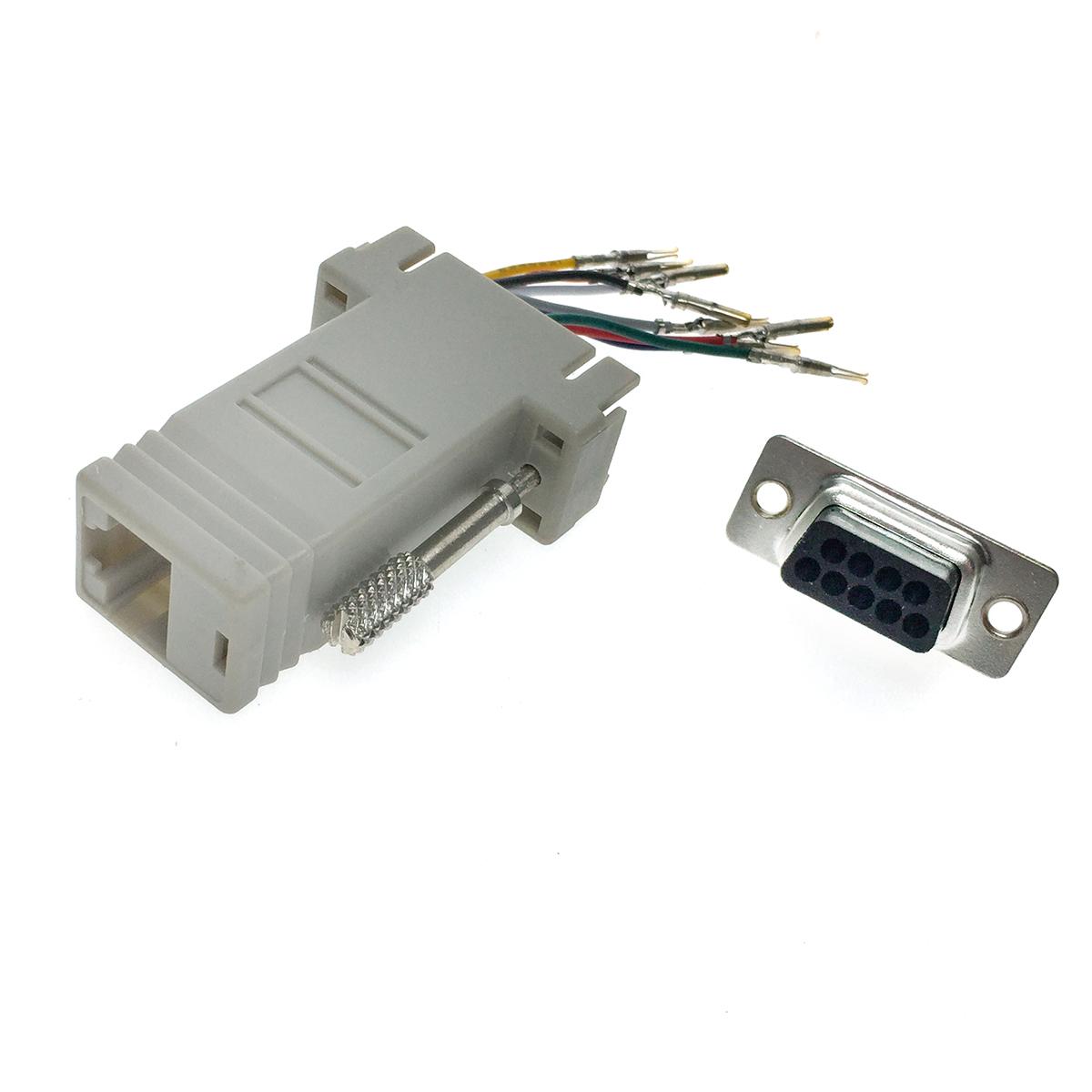 Переходник последовательного порта RS-232/COM/ to RJ45 Espada ECOMDB9F-RJ45 с произвольной коммутацией проводов