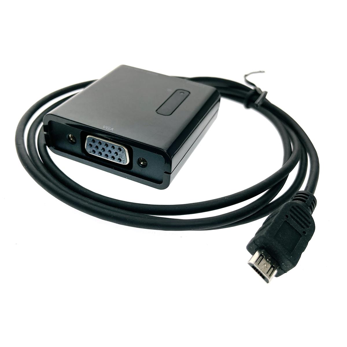 MHL-кабель micro USB B male to VGA female with Analog/Digital Audio SPDIF