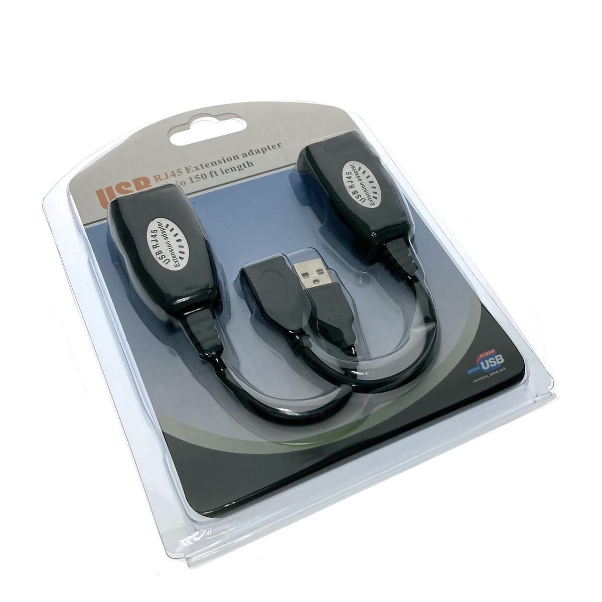 USB 2.0 удлинитель по витой паре/RJ45 до 30м Espada модель: EUSBExt30mVitP
