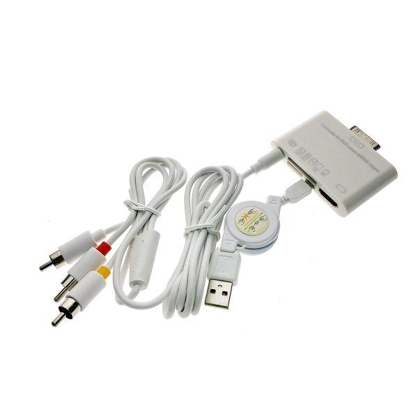 Адаптер для подключение Ipad/Iphone 30pin к телевизору + картридер