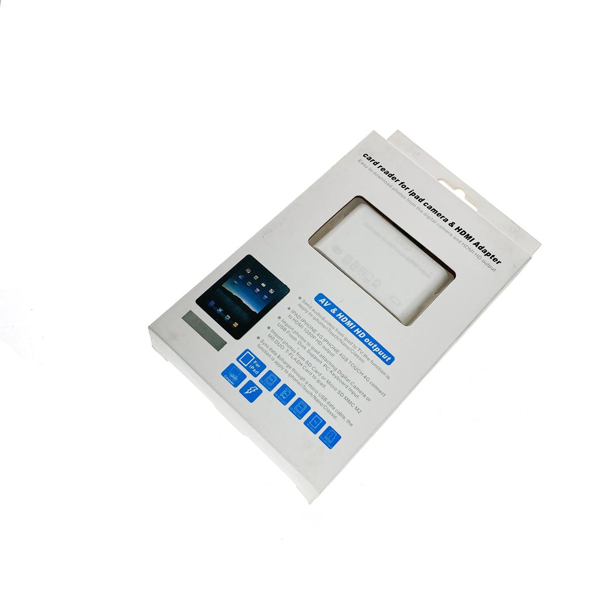 Картридер+видеоадаптер Ipad 30pin to HDMI/AV/microUSB/SD/MMC/MS/M2, Espada C02Ip