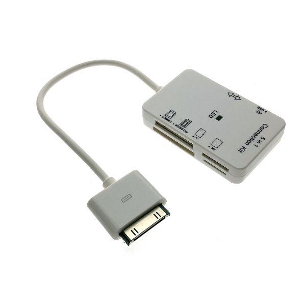 Картридер для Ipad iPhone, iPhone 3, iPhone 4 30pin to USB/SD/MMC/MS/M2 Espada C01Ip