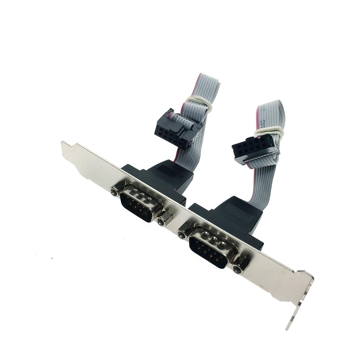 Монтажная планка с разъемами COM 2 порта Bracket RS-232 2 port, EBRCTkorpCOM-2p Espada
