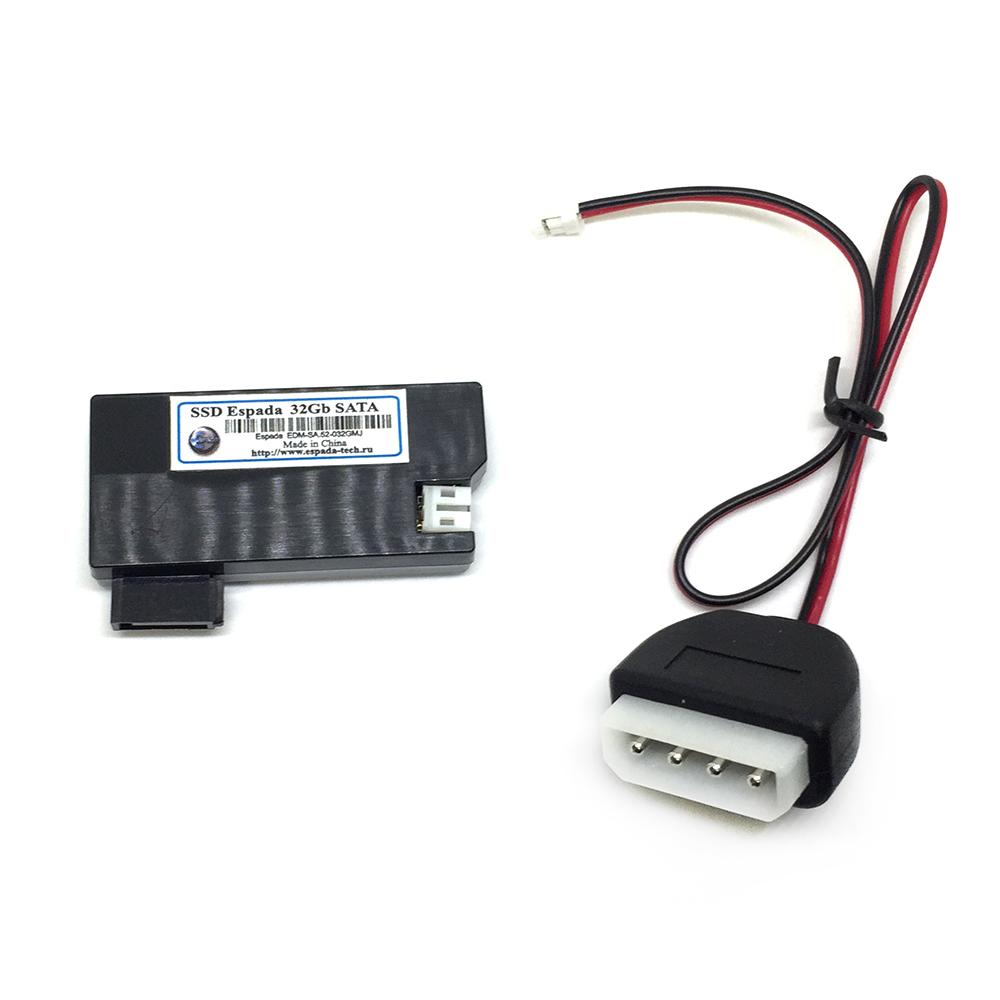 Твердотельный накопитель SSD DOM 32Gb SATA Espada с кабелем питания в пластиковом корпусе EDM-SA.52-032GMJ