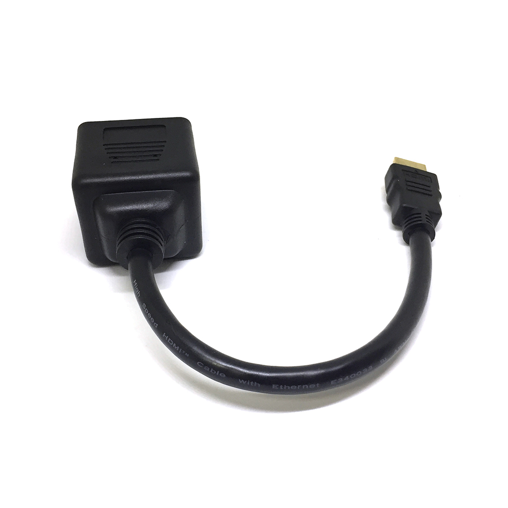 Разветвитель HDMI 19 pin male to 2*DVI-D 25 pin female 25cm ESPADA EHDMIM2xDVIF25