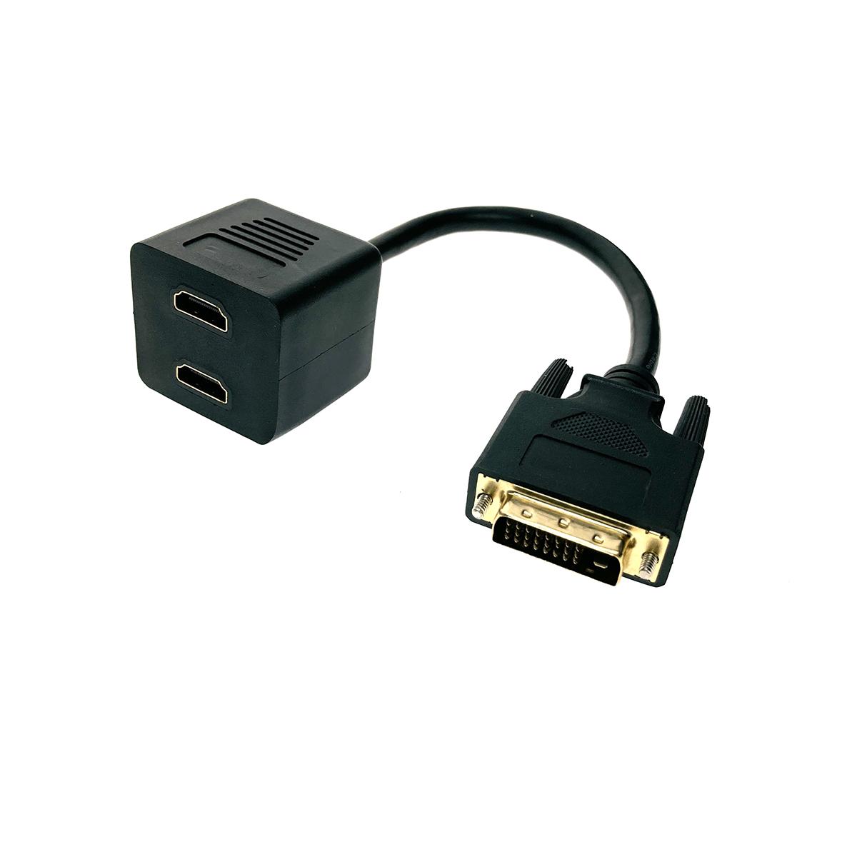 Разветвитель DVI-D 25 pin male to 2*HDMI 19 pin female 25cm ESPADA EDVIM2xHDMIF25