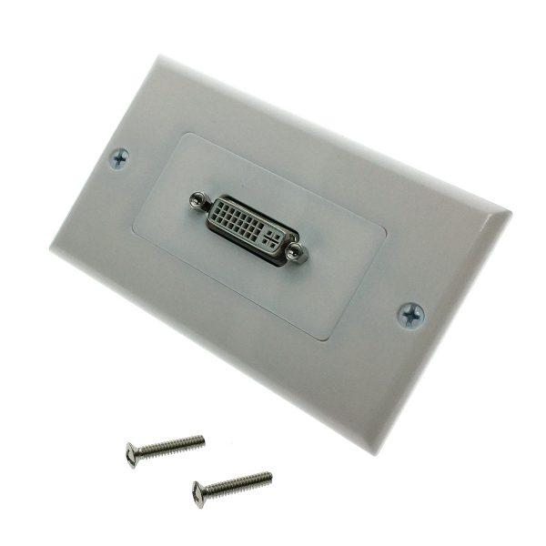 Настенная панель-переходник / встраиваемая розетка DVI 1 порт Espada EWPDVI29F