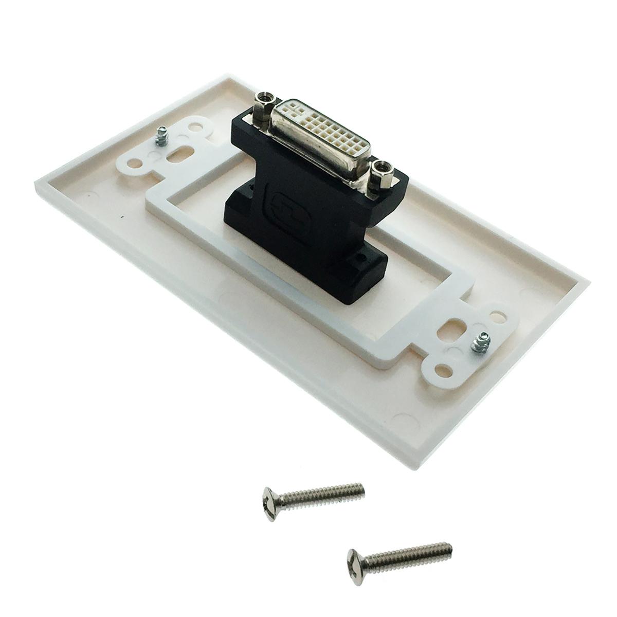 Настенная панель - переходник DVI Espada EWPDVI29F для скрытой проводки