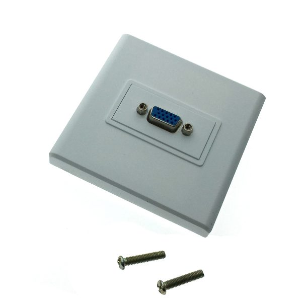 Настенная панель-переходник /встраиваемая розетка/ 1 port VGA Espada EWPVGA15F