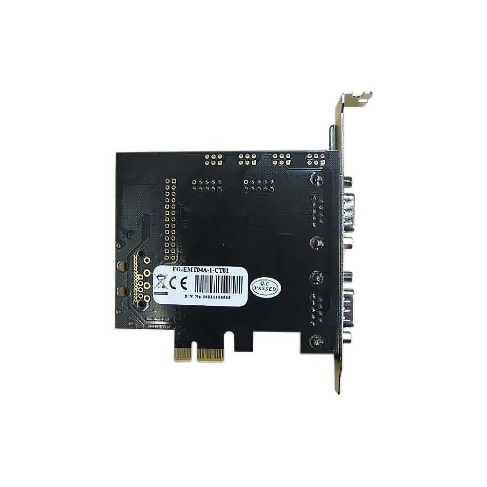 Контроллер PCI-E to 4 RS232 порт /4 COM/SERIAL port/, chip MCS9904CV, FG-EMT04A-1-CT01 Espada (box)